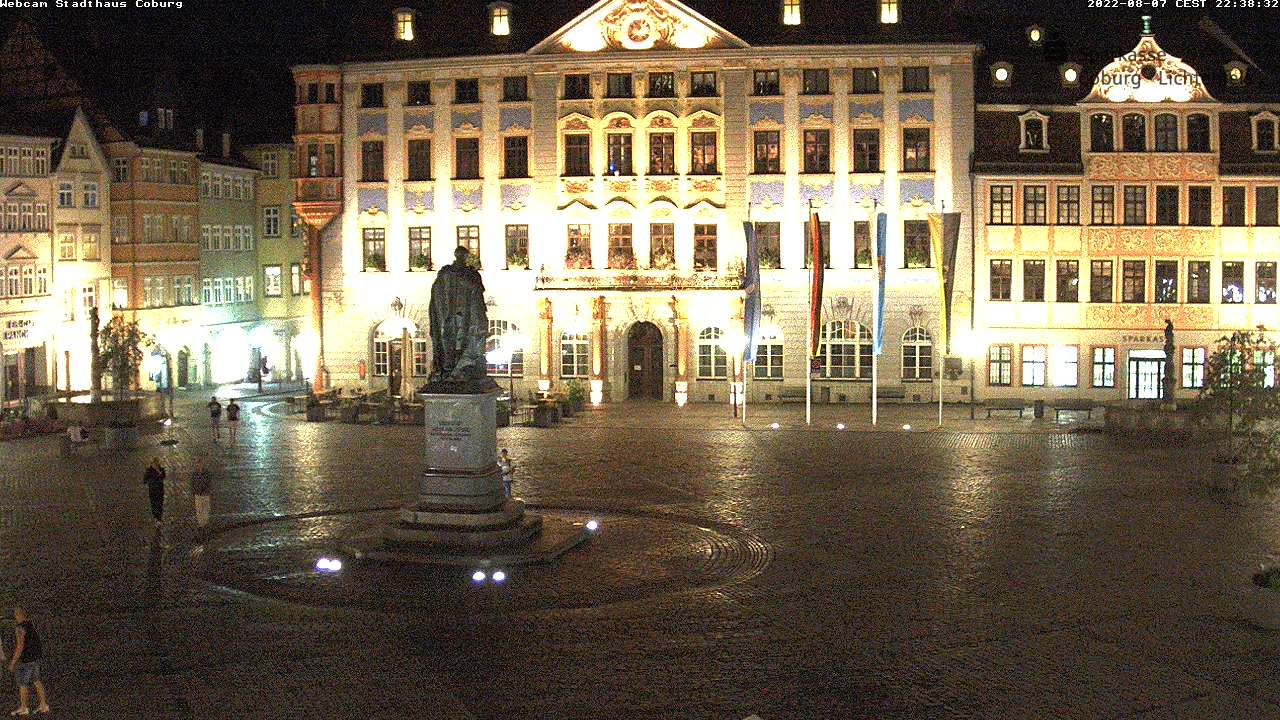 Coburg City Center, Marktplatz and Rathaus (Town Hall)